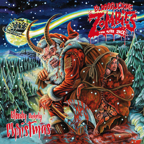 Bloodsucking Zombies From Outer Space Bloody Unholy Christmas CD Cover