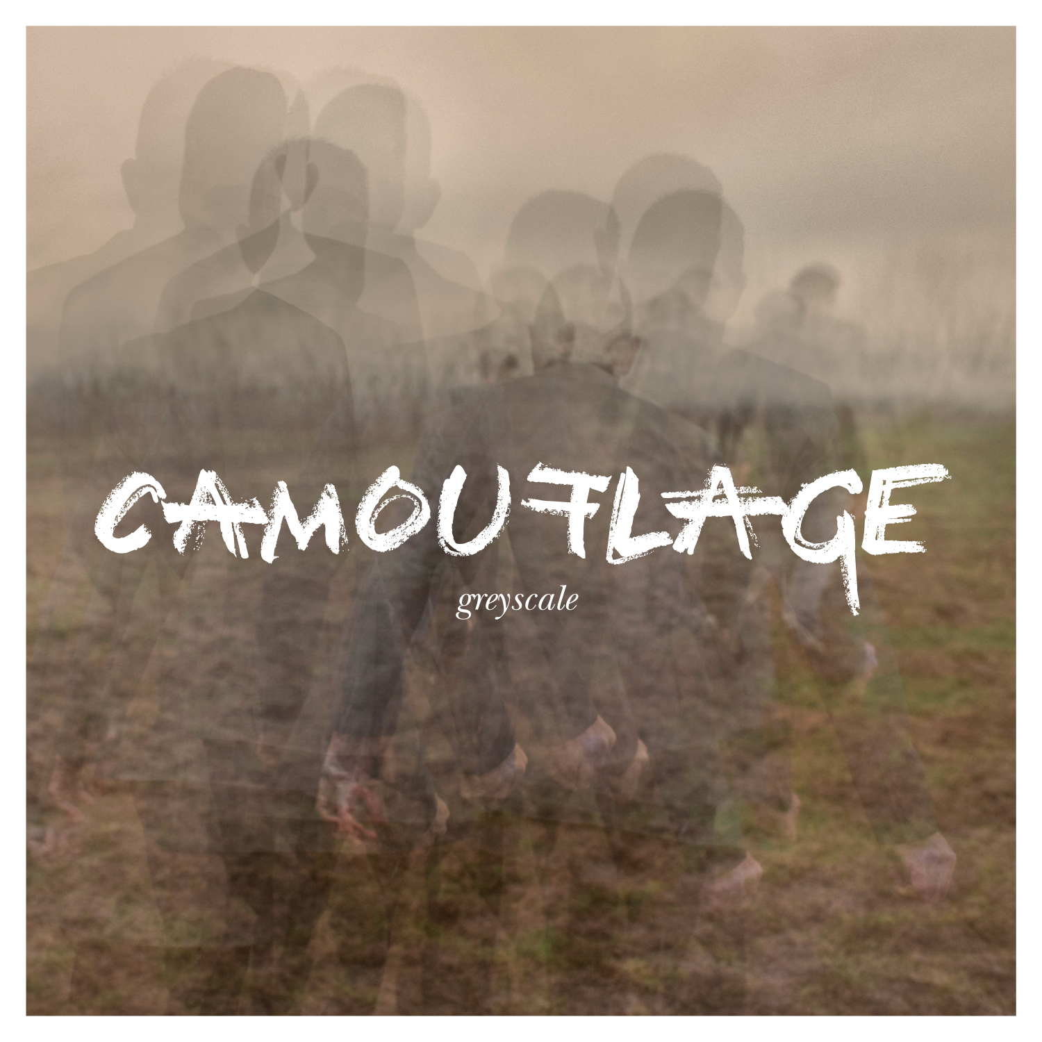 camouflage greyscale cover