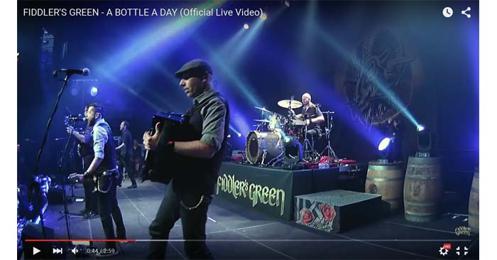 fiddlers green a bottle a day live video clip