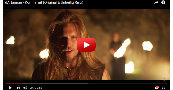 dartagnan komm mit video clip