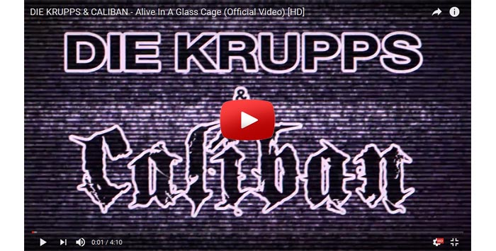 die krupps caliban alive in a glass cage video clip
