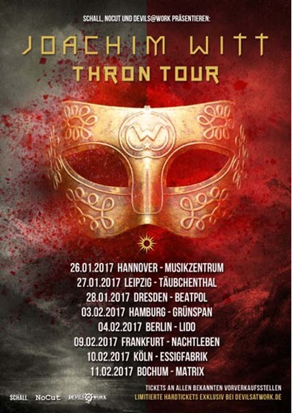 joachim witt thron tour plakat