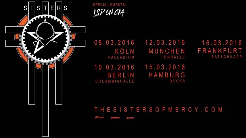 the sisters of mercy tour 2016