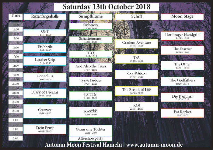 autumn moon running order sat kl