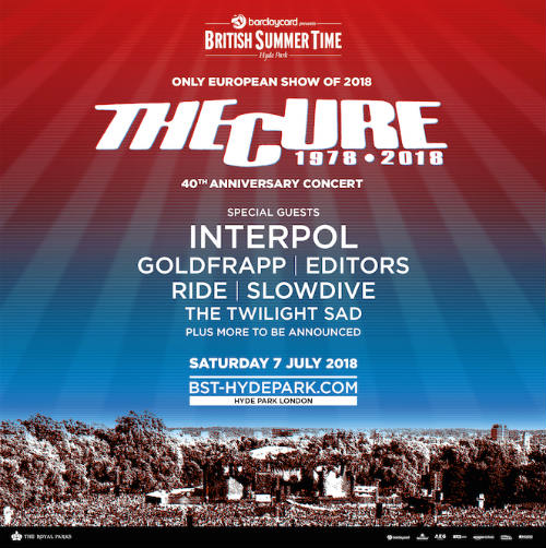 The Cure only european show
