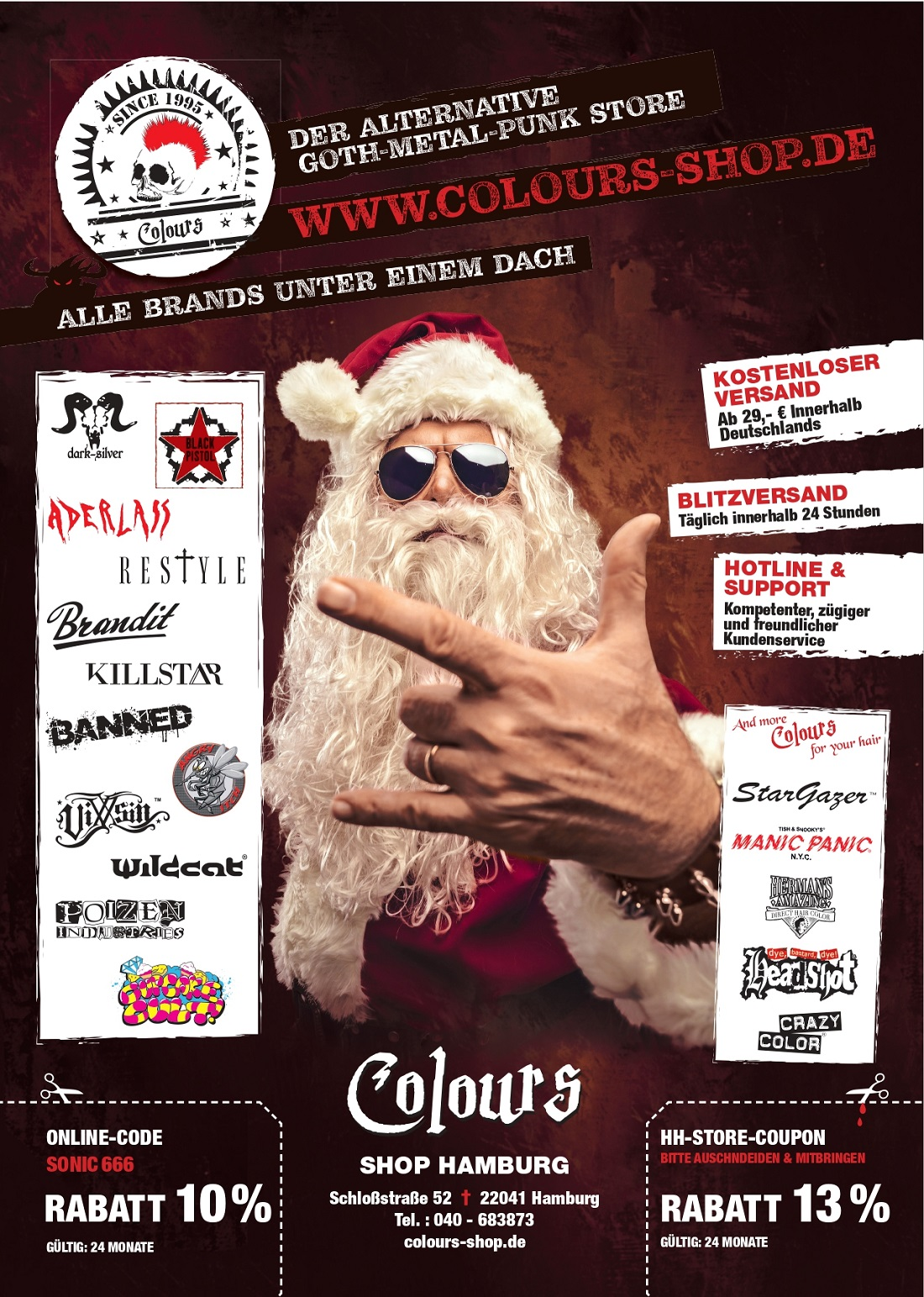 colours shop santa homepage