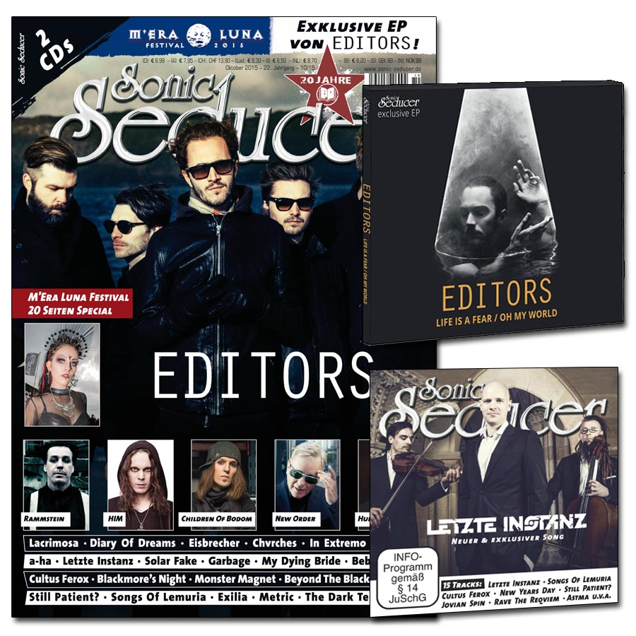Sonic Seducer 10/2015 plus exklusive Editors-CD