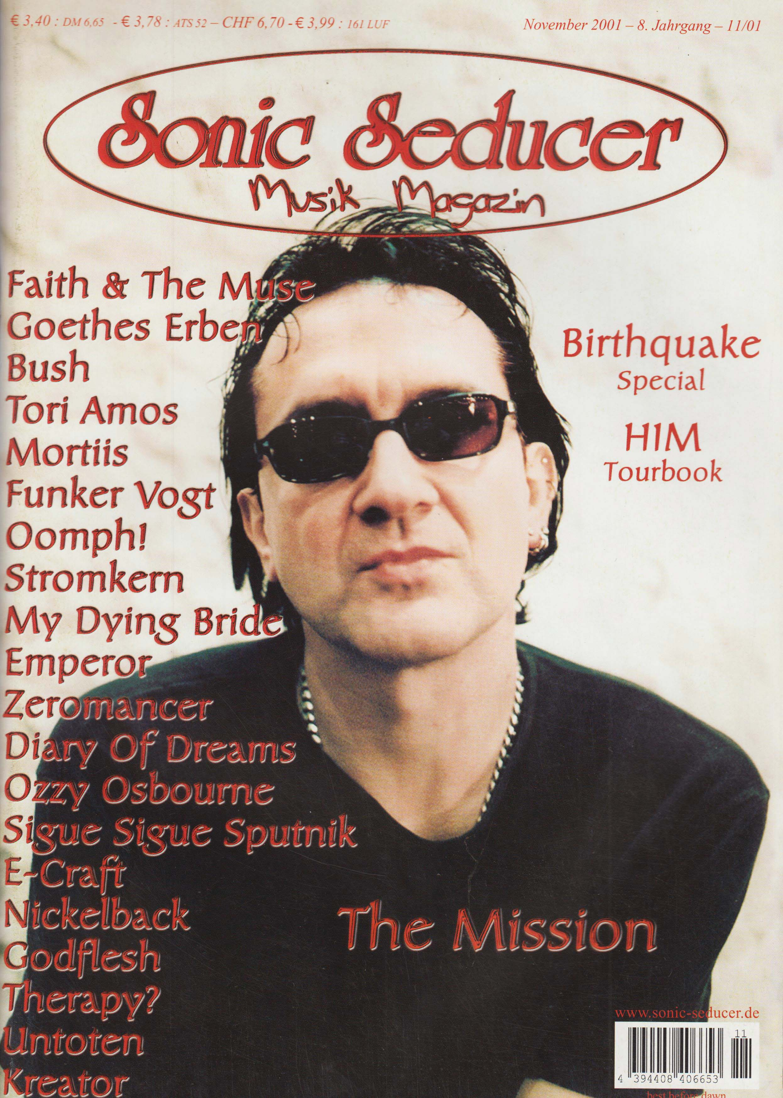 Sonic Seducer 2001-11 mit großer The Mission-Titelstory