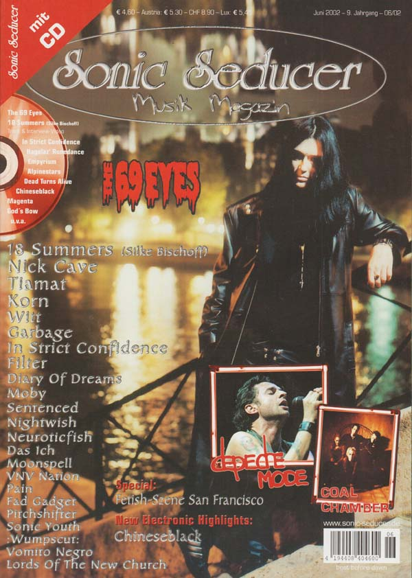 Sonic Seducer Ausgabe 2002-06 mit The 69 Eyes -Titelstory