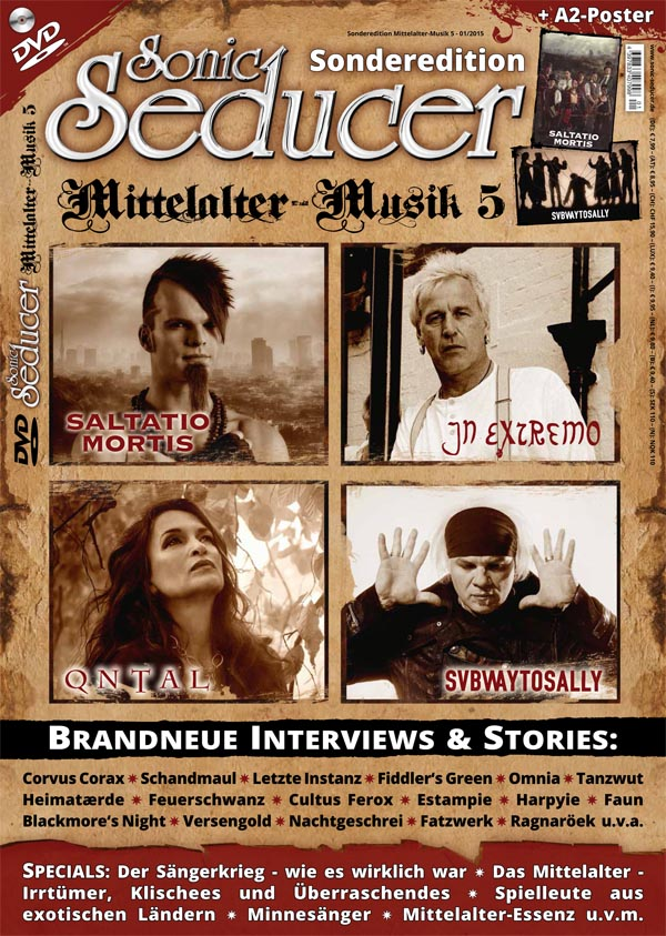 Sonic Seducer Sonderedition Mittelalter-Musik 5 plus DVD und 2 Poster