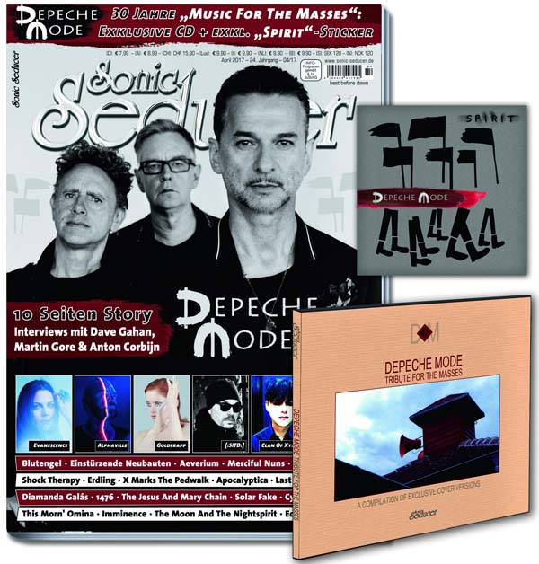 sonic seducer 04/2017 mit depeche mode titelstory, tribute-cd und sticker