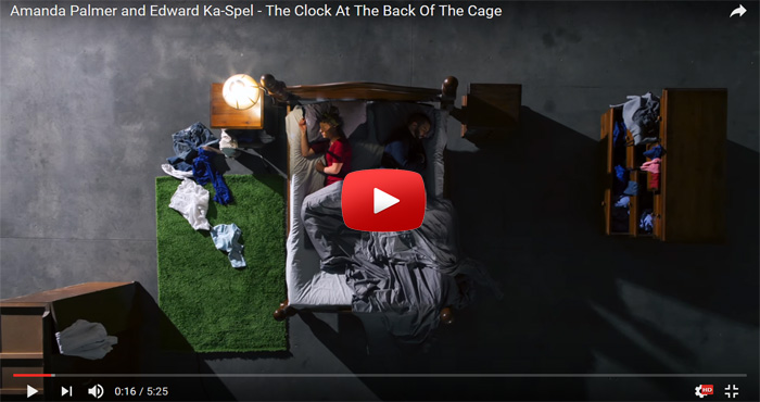 Amanda Palmer and Edward Ka Spel The Clock At Back Of Cage video clip