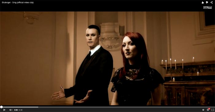 blutengel sing video clip