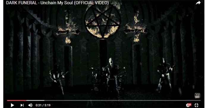 dark funeral unchain my soul video clip