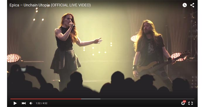 epica unchain utopia live video clip