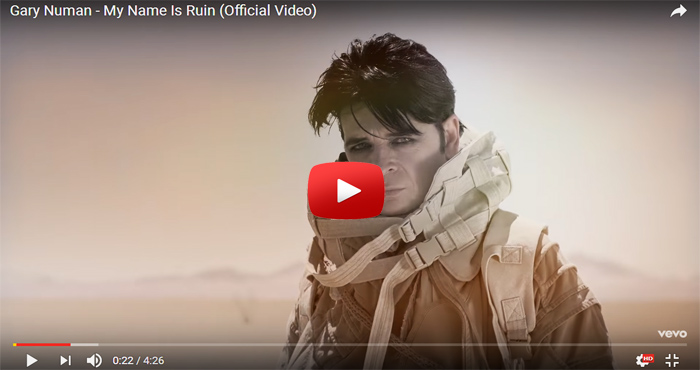 gary numan my name is ruin video clip