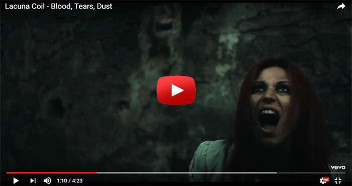 lacuna coil blood tears dust video clip