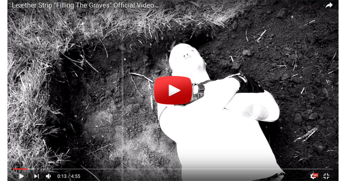 leaether strip filling the graves video clip