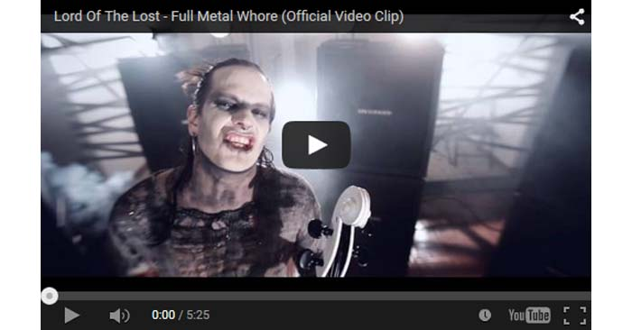 lord of the lost full metal whore video clip