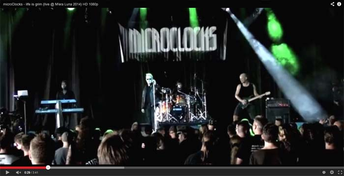 microclocks life is grim live clip