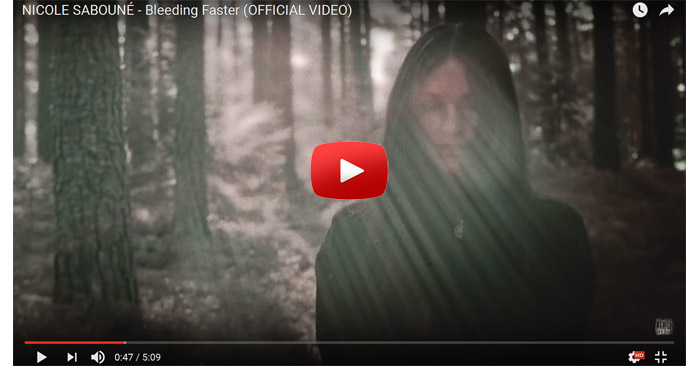 nicole saboune bleeding faster video clip