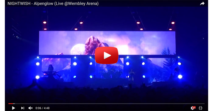 nightwish alpenglow live video clip
