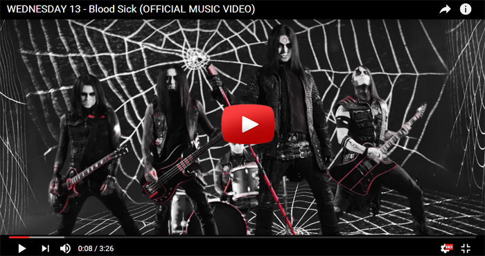 wednesday 13 blood sick video clip
