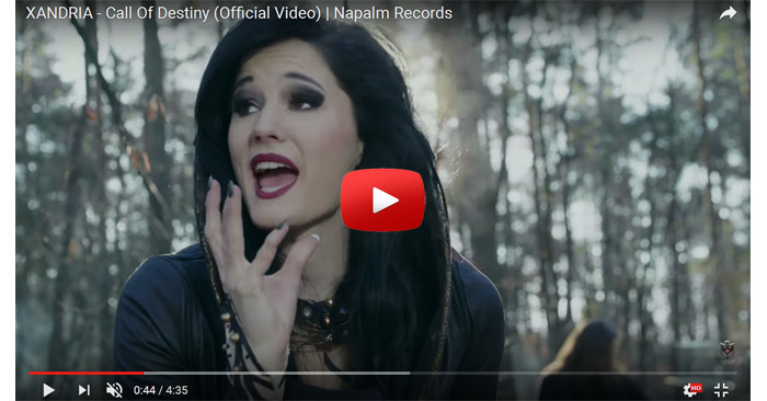 xandria call of destiny video clip